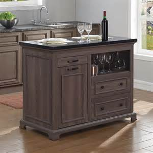 tresanti the chef kitchen island with pull out trash bin