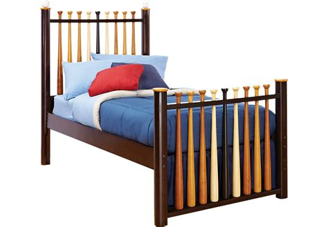 baseball bed batter up cherry 3 pc twin baseball bed beds dark wood
