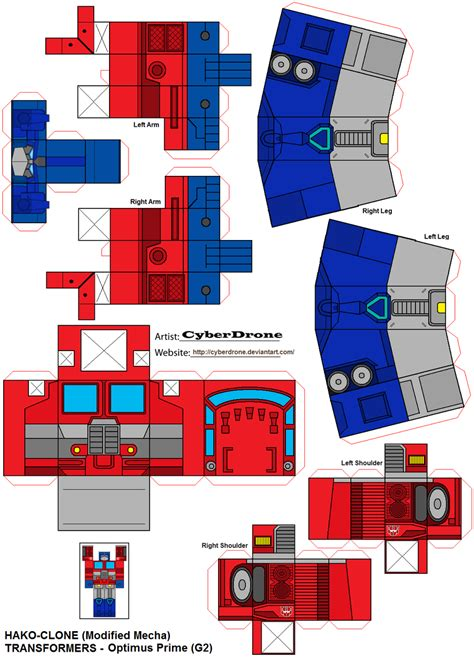 Papercraft Transformers Optimus Prime - hako clone optimus prime g2 by cyberdrone on deviantart
