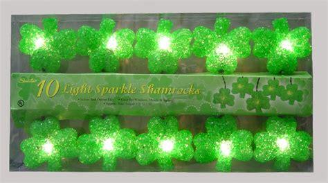 shamrock string lights sparkling shamrock string lights st s day