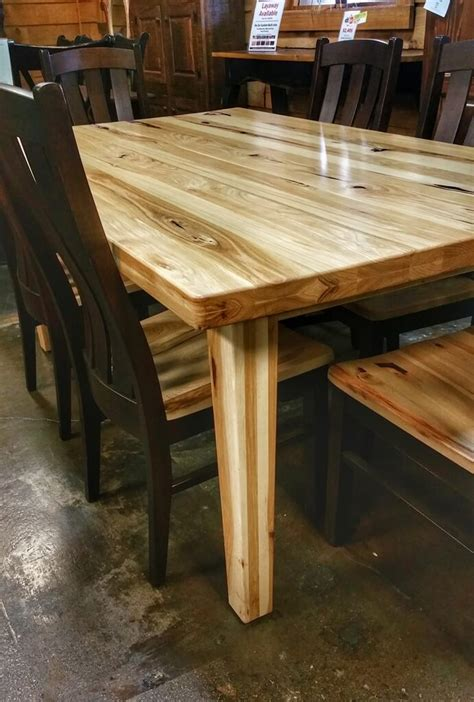 amish hickory table  chair set atul store ul   stock  wood furniture