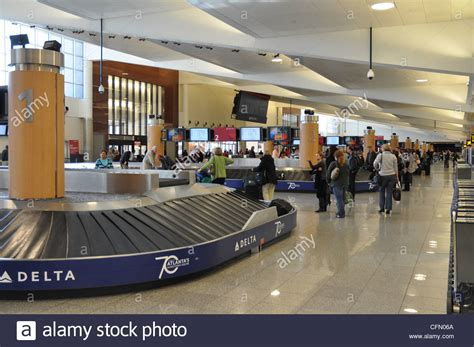 baggage claim fai airport baggage claim at atlanta international airport stock photo