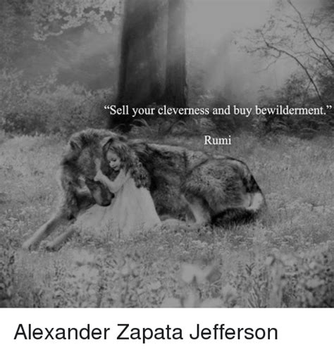 Rumi Memes - sell your cleverness and buy bewilderment rumi alexander