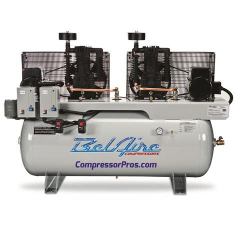 belaire 4312dl4 460 volt 2x7 5 hp 120 gallon duplex electric air compressor ebay