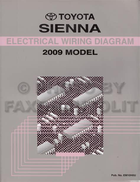 buy car manuals 2009 toyota sienna user handbook 2009 toyota sienna wiring diagram manual original