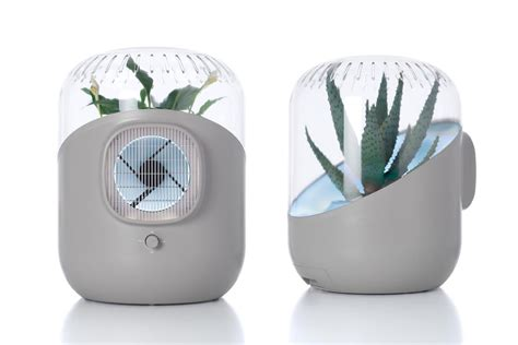 andrea air purifier uses plant power to clean the air in