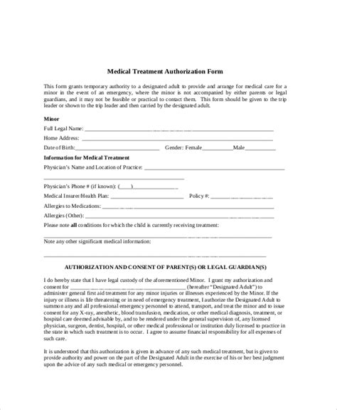 8 Sle Medical Authorization Release Forms Sle Templates Medication Authorization Form Template