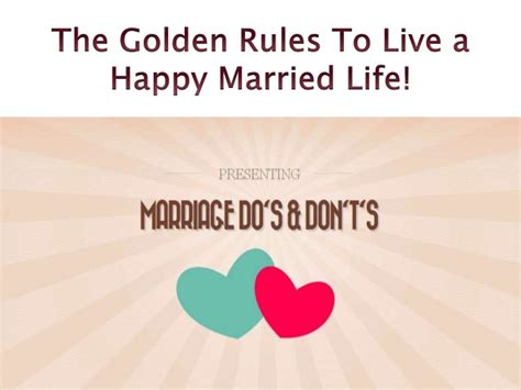 golden rules    happy married life