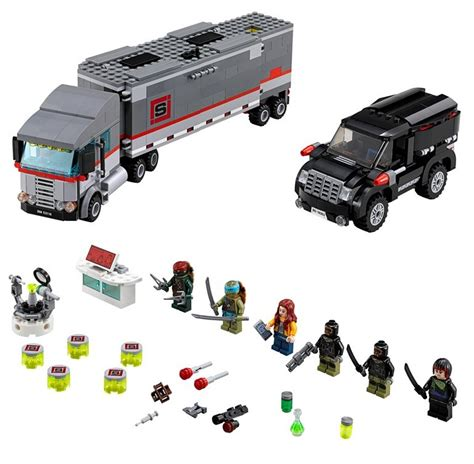 Lego Turtles 79116 Big Rig Snow Getaway lego tmnt big rig snow getaway 79116 set photos