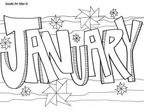 january color january coloring pages to and print for free