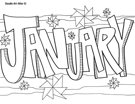 January Coloring Pages Free Printable january coloring pages to and print for free