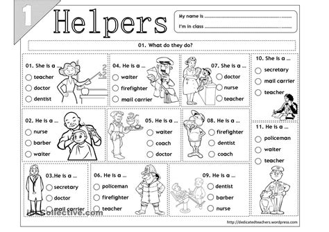 community helpers worksheets lesson plans community