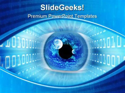 binary powerpoint template binary eye powerpoint template 0810