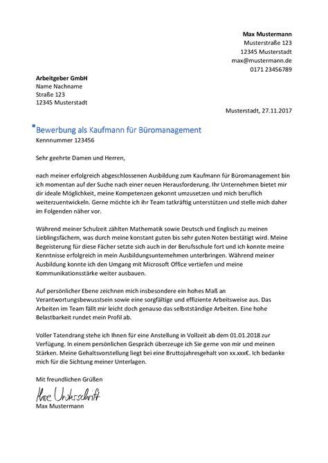 Bewerbung Formulierung Berufseinstieg kaufmann kauffrau f 252 r b 252 romanagement bewerbung net