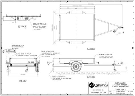 how to draw a boat on a trailer 7x5 box trailer plans build your own box trailer fabplans