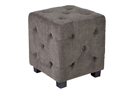Duncan Small Tufted Gray Cube Ottoman At Gardner White Grey Tufted Ottoman