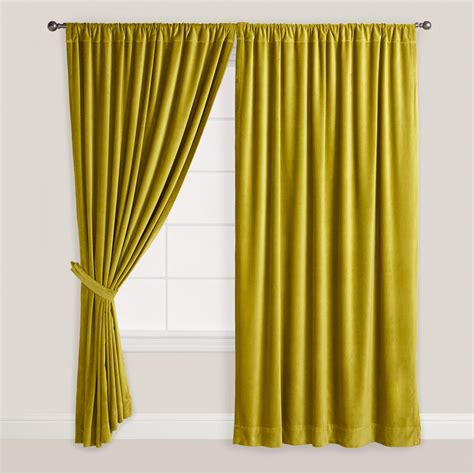 Green Velvet Curtains Green Velvet Oasis Curtain World Market Bedroom Furniture Decor Pinterest Green