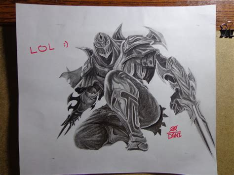 league of legends drawing champions zed by danifiras on