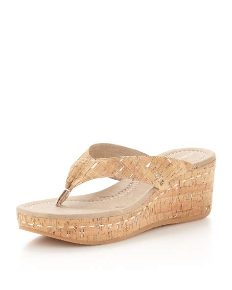 cork wedge sandal donald j pliner shana cork wedge sandal cork in brown