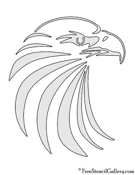 printable eagle stencils eagle head stencil free stencil gallery