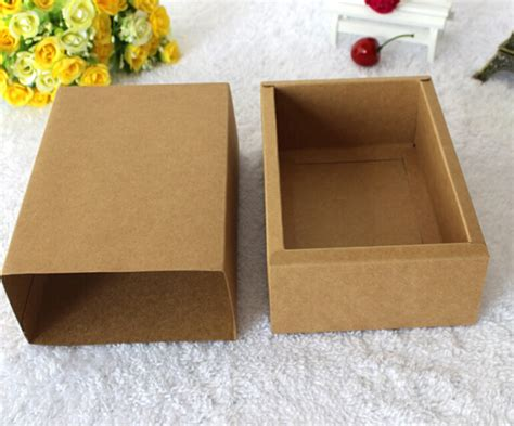 Handmade Soap Boxes - qi 10pcs lot square paper packing boxes brown kraft paper