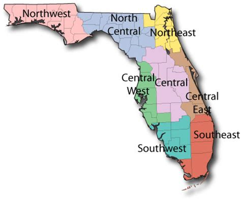 florida state parks map state park