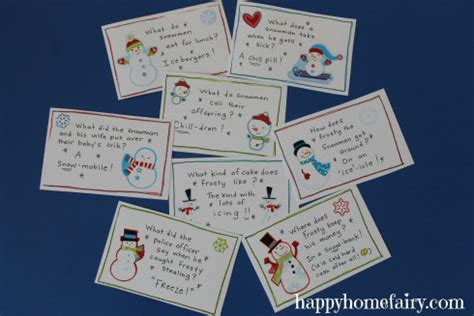 free printable winter note cards free snowman lunch box notes 24 7 moms
