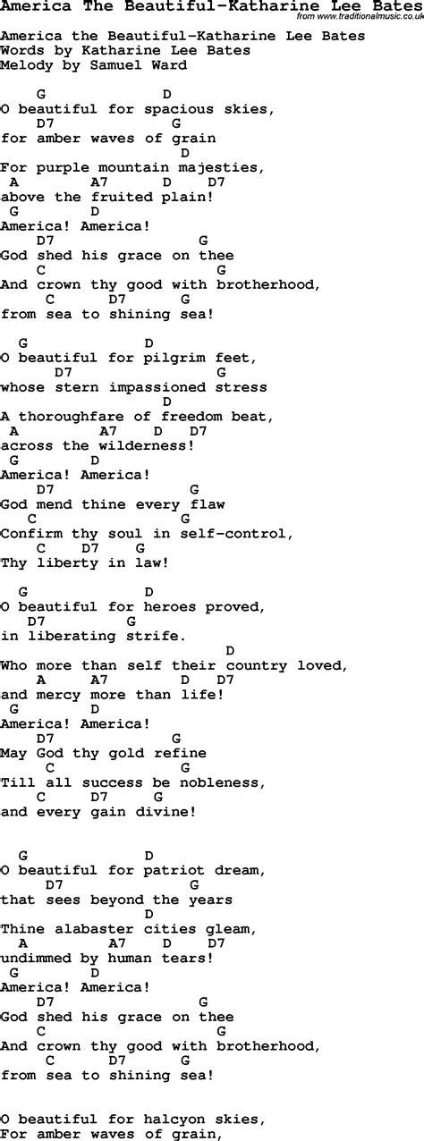 printable lyrics america the beautiful summer c song america the beautiful katharine lee
