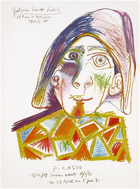 picasso paintings clowns clown for leiris lithograph by picasso