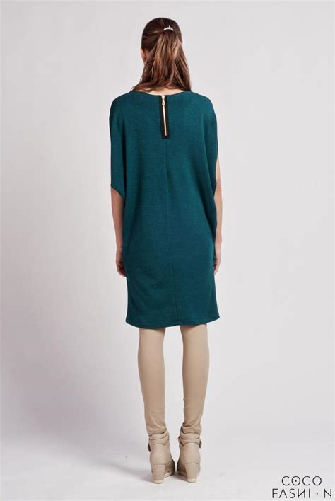 cesious comfortable casual tunic dress with bat sleeves