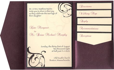 wedding invitation insert templates pocketfold wedding invitation with inserts wedding