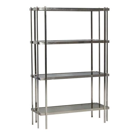 Etagere Nickel by Mid Century Modern Brushed Nickel 201 Tag 232 Re With Smoked