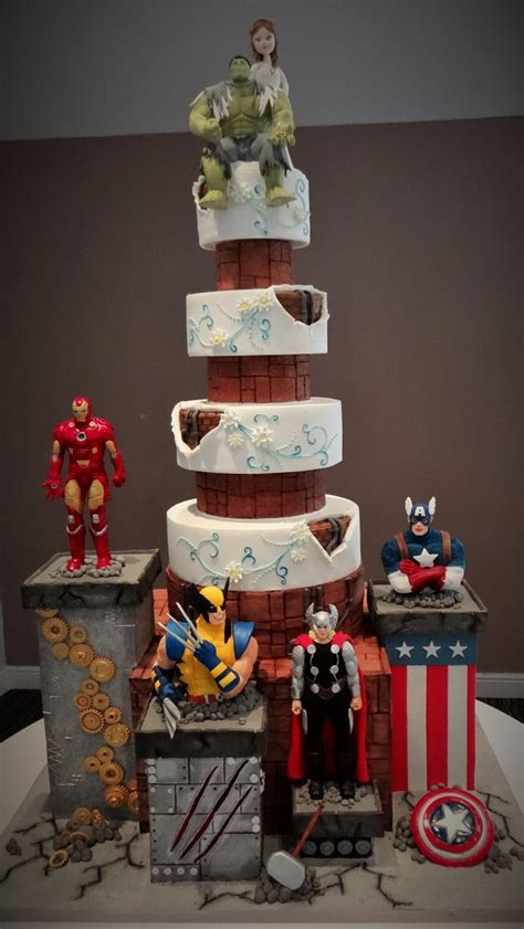 Hochzeitstorte Marvel by Marvel Wedding Cake Www Imgkid The Image Kid Has It