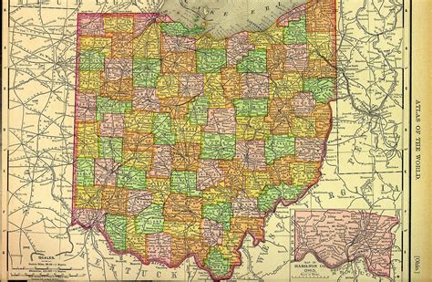 ohio map by county detailed map of ohio search engine at search