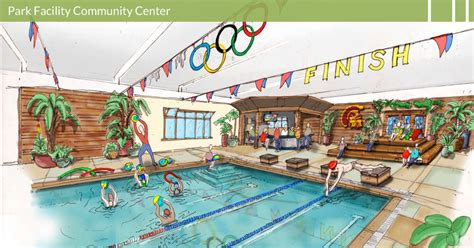 community pool design meltondg community center recreation center park facility aquatic center