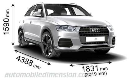 Abmessungen Audi Q3 by Dimensions Des Voitures Audi Longueur X Largeur X Hauteur
