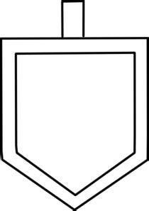 dreidel template white dreidel shape clip at clker vector clip