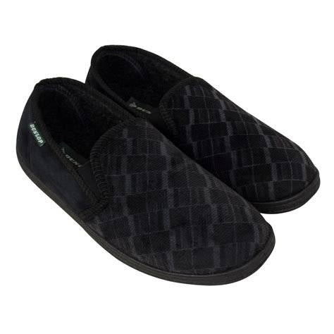 gents slippers uk mens boys dunlop classic luxury gusset slipper gents