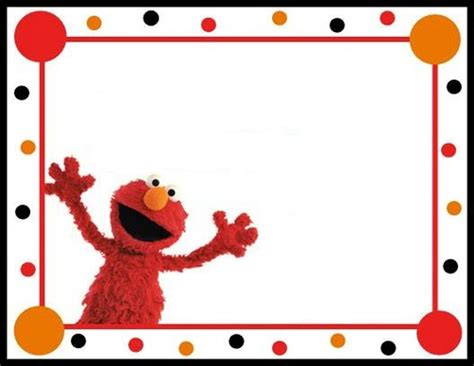 elmo birthday card template elmo invitation free template invitations