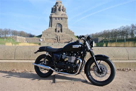 Triumph Motorrad Leipzig by Details Zum Custom Bike Triumph Bonneville T100 Black Des