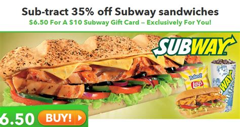 Order Subway Gift Cards Online - savvy spending saveology 10 subway gift card for 6 50