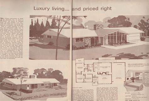 atomic ranch floor plans americanhome1958 copy 2 mid century ranch mid century