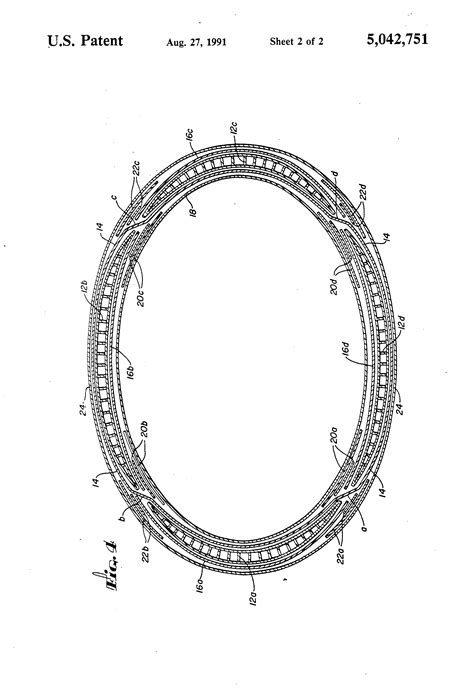 what is a circular cross section patent us5042751 pressure vessel with a non circular