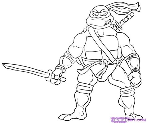 Teenage Mutant Ninja Turtle Coloring Pages Printable Tmnt Colouring Pages
