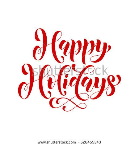 happy holidays script stock images royalty  images vectors shutterstock