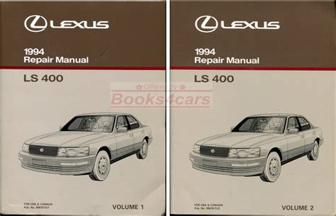 old car owners manuals 2004 lexus es auto manual shop manual ls400 service repair 1994 book ls 400 haynes chilton