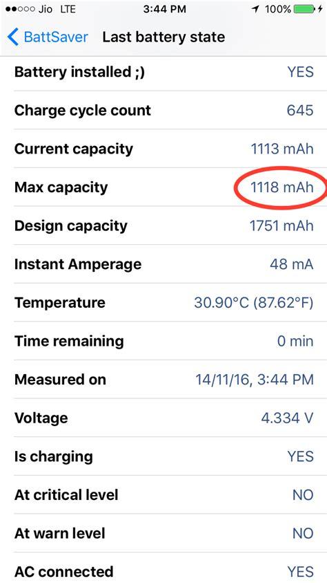 iphone    battery max capacity