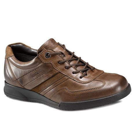 mens casual leather shoes s ecco transporter line s brown leather lace up shoe