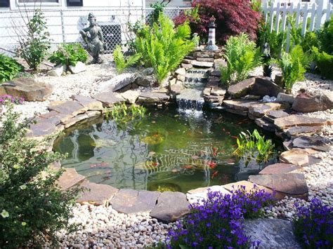 backyard pond ideas with waterfall beautiful small pond design to complete your home garden