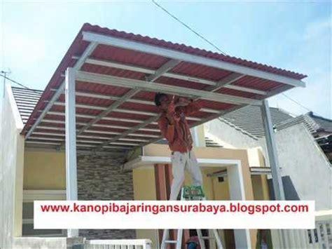 membuat atap jemuran kanopi baja ringan suryajayatruss doovi